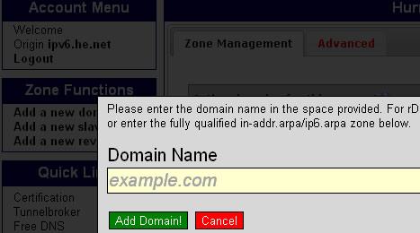 Godaddy域名设置HE免费DNS的方法