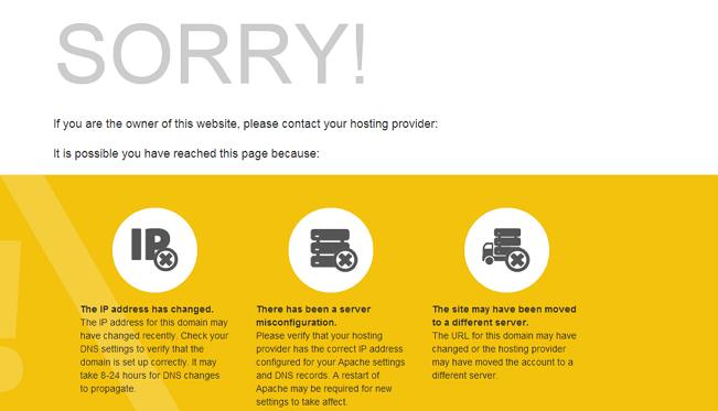 我为什么访问网站或者页面会转向/cgi-sys/defaultwebpage.cgi?
