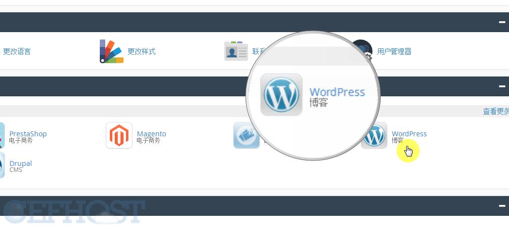 通过installatron 一键安装wordpress